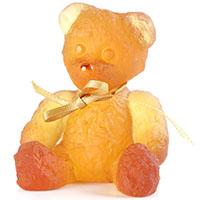 Хрустальная фигурка Daum Мини-мишка янтарный, фото
