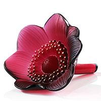Цветок декоративный Lalique Red Anemones, фото