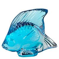 Фигурка Рыбка Lalique голубая, фото