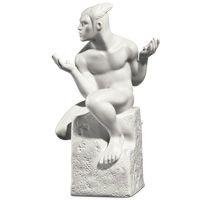 Мужская фигурка Royal Copenhagen Christel Zodiac Близнецы фарфоровая белая, фото