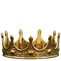 Статуэтка Seletti Memorabilia Gold в виде золотой короны, фото