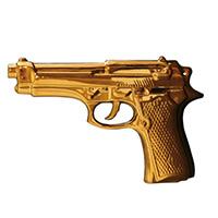 Статуэтка Пистолет золотой Seletti Memorabilia Gold, фото