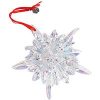 Фигурка Baccarat Новогодняя снежинка из хрусталя, фото