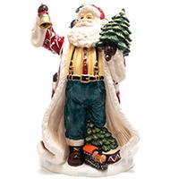 Статуэтка Palais Royal Дед Мороз с елкой и колокольчиком, фото