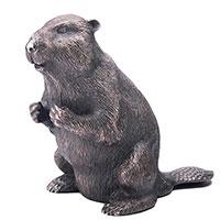 Серебряная фигура Оникс ручной работы Бобер, фото