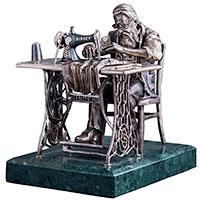 Фигура ручной работы Оникс Еврейский портной, фото