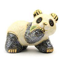 Фигурка De Rosa Rinconada Медвеженок Панда с листиком, фото