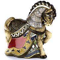 Фигурка De Rosa Rinconada Large Wildlife  Конь Турнирный красный (лимитированный выпуск 1000 шт), фото