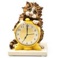 Кот с будильником Enesco, фото