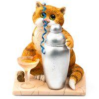 Кот с любимым коктейлем Enesco, фото