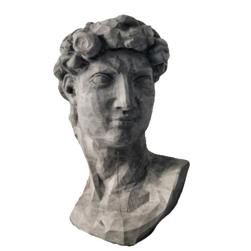 Ваза-органайзер Vase Head Давид серого цвета, фото