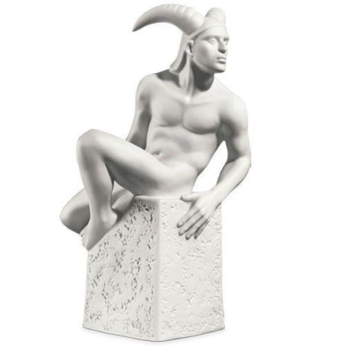 Мужская фигурка Royal Copenhagen Christel Zodiac Козерог фарфоровая белая, фото