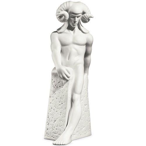 Мужская фигурка Royal Copenhagen Christel Zodiac Овен фарфоровая белая, фото