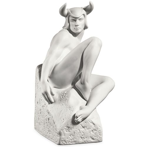Мужская фигурка Royal Copenhagen Christel Zodiac Телец фарфоровая белая, фото