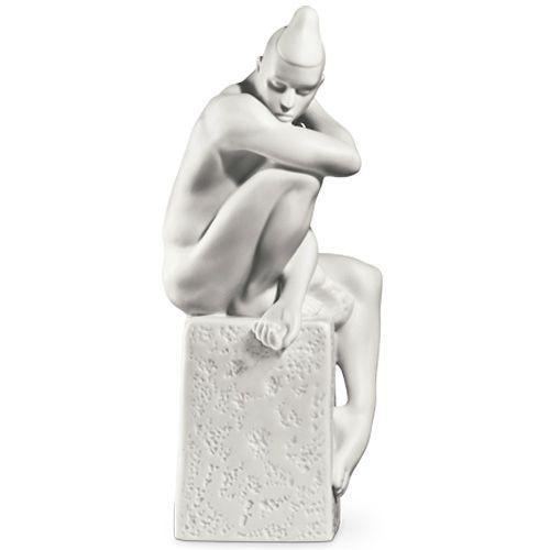 Мужская фигурка Royal Copenhagen Christel Zodiac Дева фарфоровая белая, фото