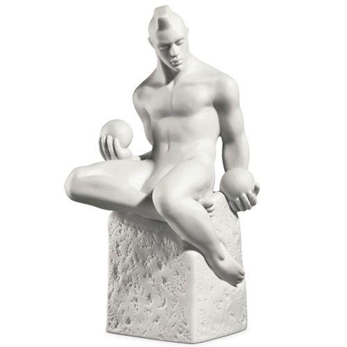 Мужская фигурка Royal Copenhagen Christel Zodiac Весы фарфоровая белая, фото