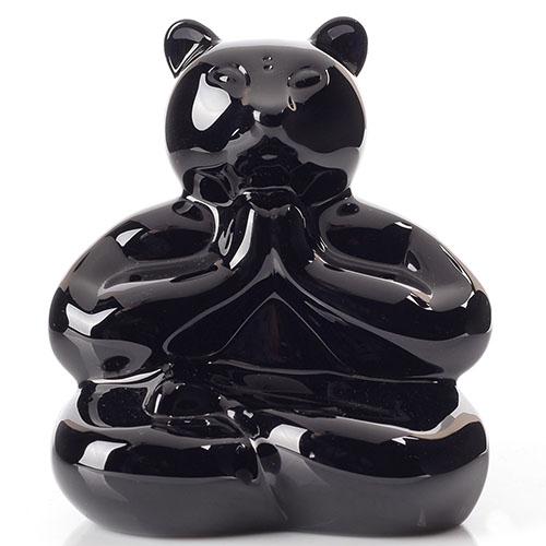 Черная фигурка Baccarat Любящий медведь король, фото