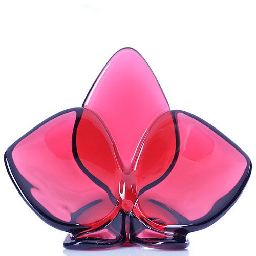 Хрустальная фигурка Baccarat Орхидея красного цвета, фото