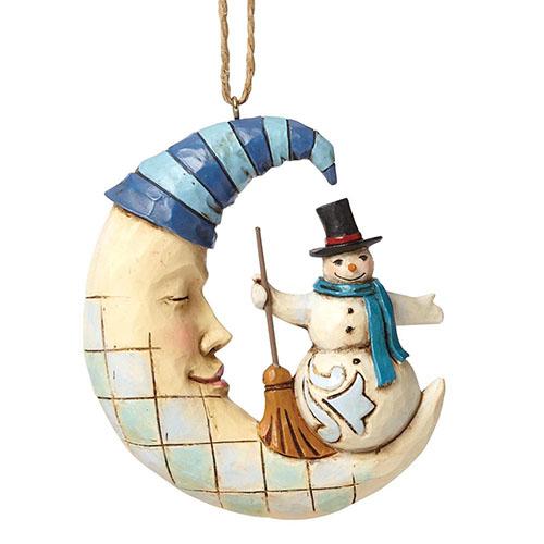 Фигурка Enesco Месяц и снеговик, фото