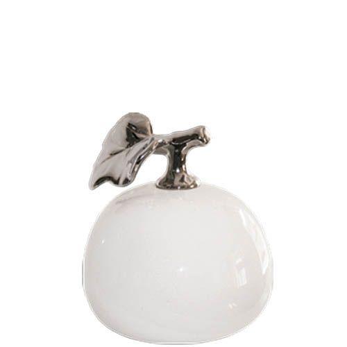 Декор-яблоко Eterna белый с серебристым, фото