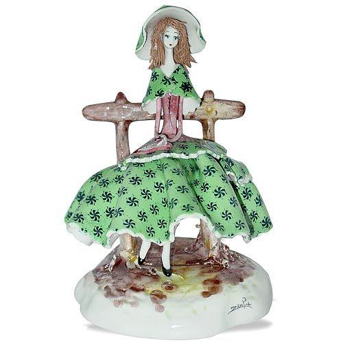 Статуэтка Zampiva «Девушка на скамейке», фото