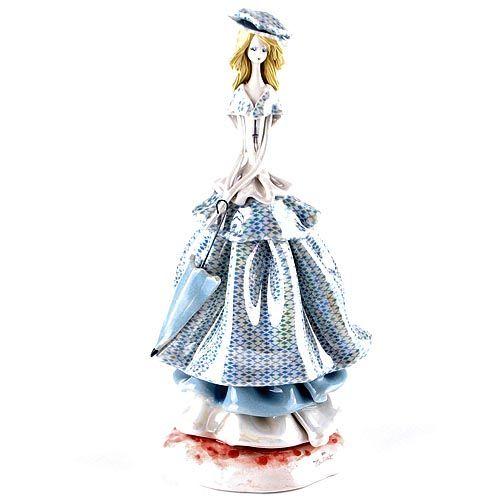 Статуэтка Zampiva «Дама с голубым зонтиком», фото