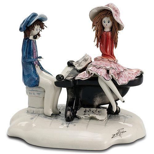 Статуэтка Zampiva «Пара у фортепиано», фото