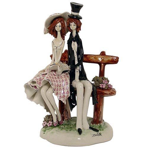 Статуэтка Zampiva «Пара на скамеечке», фото