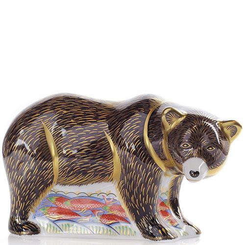 Фарфоровая фигурка Royal Crown Derby Медведь, фото