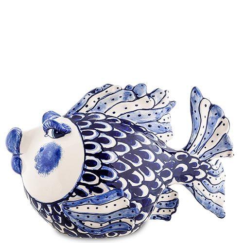 Фигурка Pavone Blue Sky Рыба сине-белая, фото