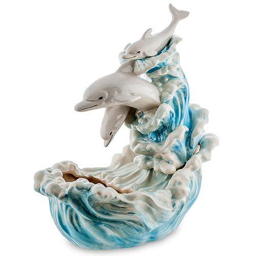 Фонтан декоративный Pavone Blue Sky Дельфины, фото