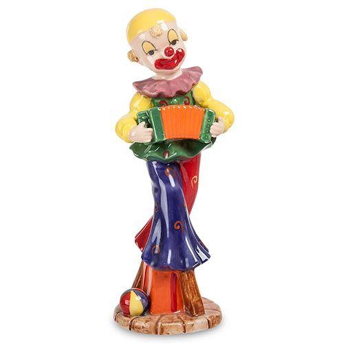 Фигурка из фарфора Pavone CMS Клоун с гармошкой, фото