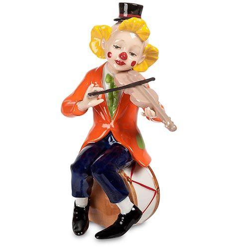 Фарфоровая фигурка Pavone CMS Клоун со скрипкой, фото