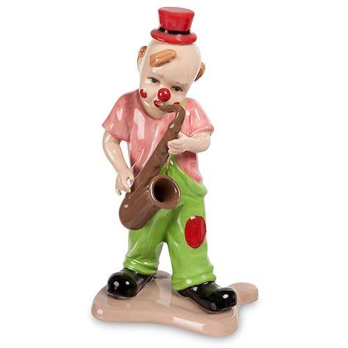 Фарфоровая фигурка Pavone CMS Клоун с саксофоном, фото