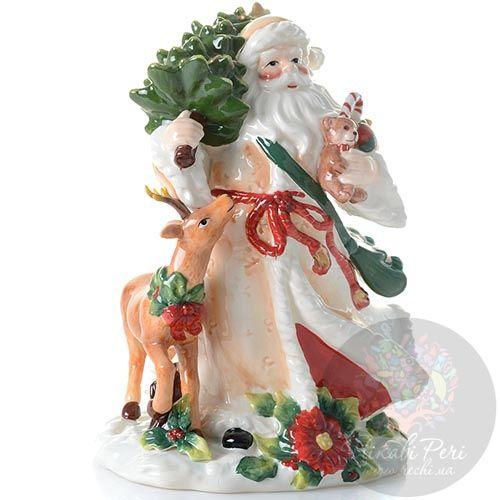 Статуэтка Pavone Дед Мороз с елкой, фото