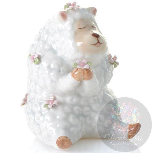 Статуэтка Pavone Овечка с цветочком, фото