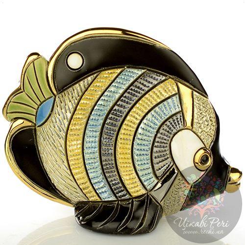 Фигурка De Rosa Rinconada Families  Рыба-Бабочка с зеленым хвостом, фото