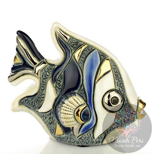 Фигурка De Rosa Rinconada Families  Рыбка-Ангел серо-бело-синяя, фото