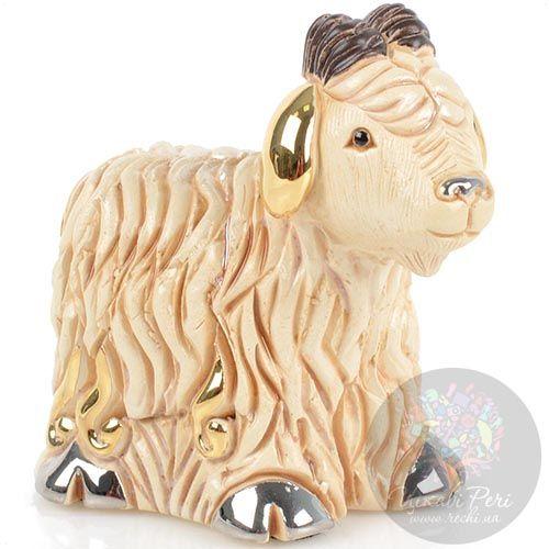 Фигурка De Rosa Rinconada Families Zodiac Овечка (Козочка) кремовая, фото