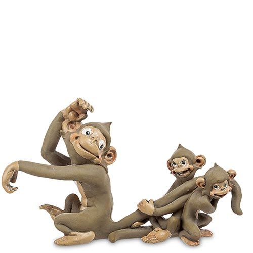 Фигурка Pavone ED Обезьяна с малышами, фото