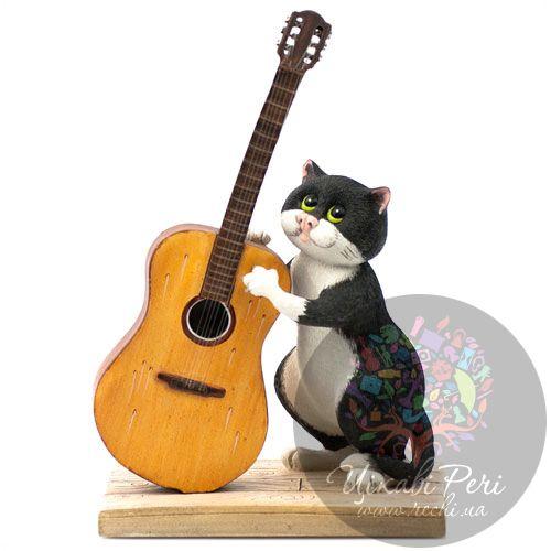 Кот с гитарой Enesco, фото
