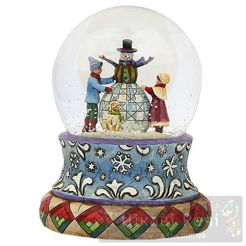 Музыкальный снежный шар , фото