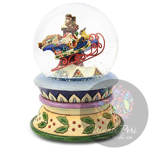 Музыкальный шар с санями внутри, фото