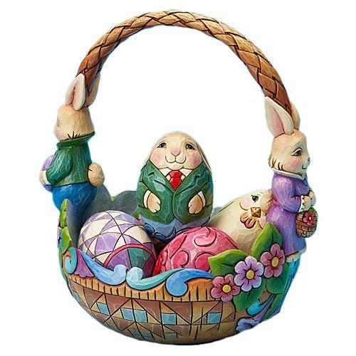 Корзина с кроликами Enesco, фото