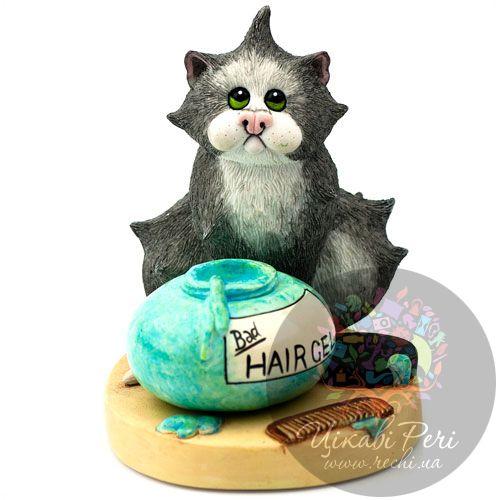 Кот с плохой прической, фото