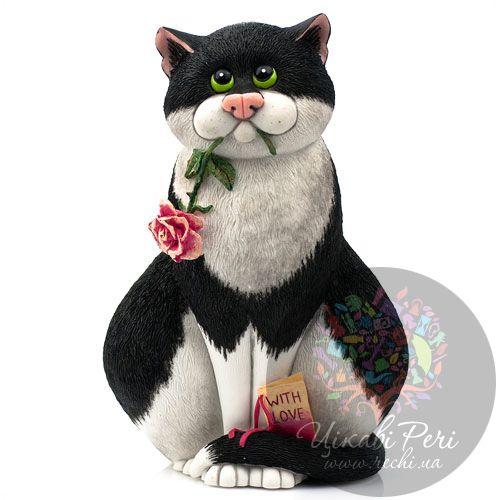 Кот с розой Enesco, фото