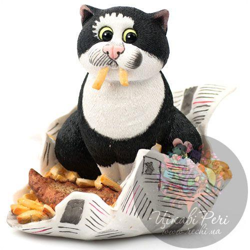 Кот с картошкой фри Enesco, фото