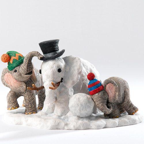 Зимние игры слоников, фото