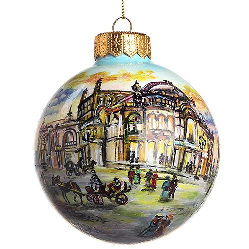 Елочный шар FaVareli Национальная опера с ручной росписью, фото