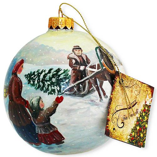 Елочный шар FaVareli За ёлочкой с ручной росписью, фото
